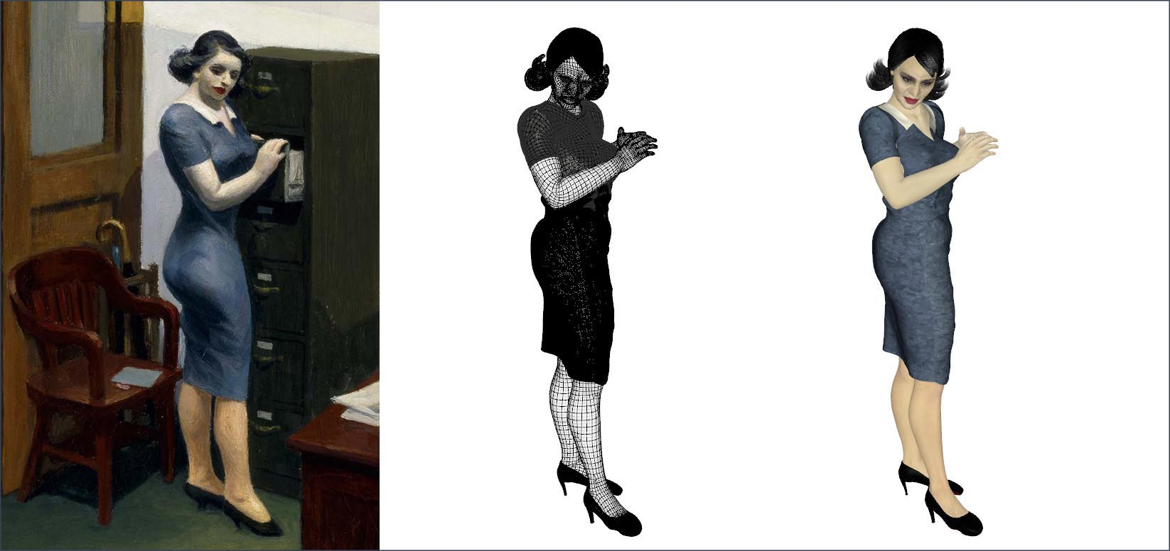 3D model of the woman